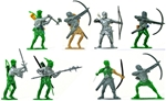 Converted Medieval Archers and Men at Arms - 54mm