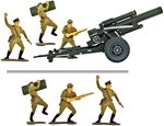 WWII Marx Russian Artillerymen - fully painted