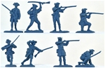 18th Century American Militia - blue color