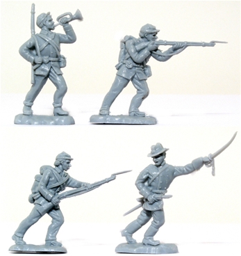 Recast Herald C.S.A. Infantry - gray color
