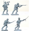 Recast Herald CSA Infantry - gray color set of 8