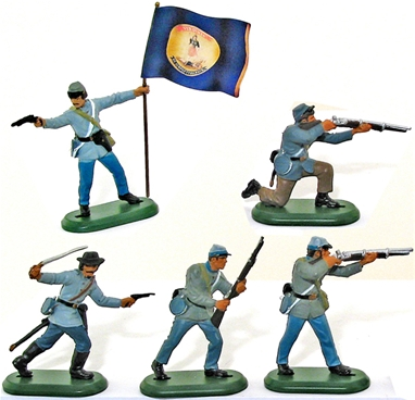 C.S.A. Infantry with Virginia State Flag (2006)