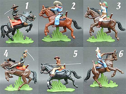 Mounted Mexicans - fully painted