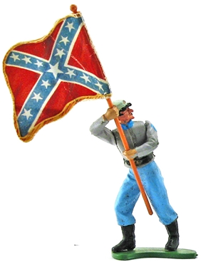 Swoppet Confederate Infantry Standard Bearer