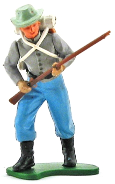 Swoppet Confederate Infantryman Advancing