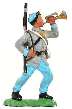 Herald Civil War Confederate Bugler