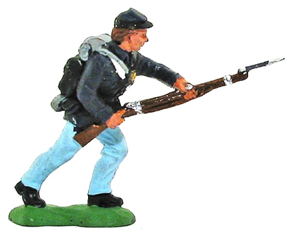 Herald Civil War Federal Infantryman Advancing