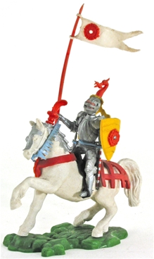 Swoppet Mounted Knight Standard Bearer
