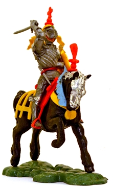 Swoppet Mounted Knight Attacking with Sword