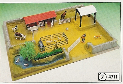 Model Farmyard with Animals