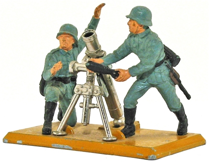 Deetail WWII German Mortar and Crew