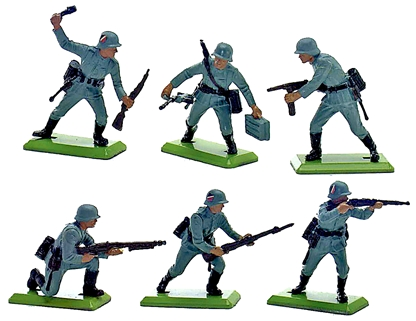 Deetail WWII German Infantry Set #1 - 6 in 3 poses