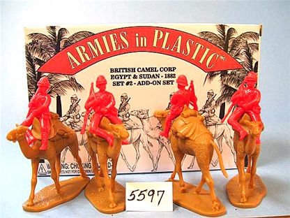 British Camel Corps Add-on Set in red color