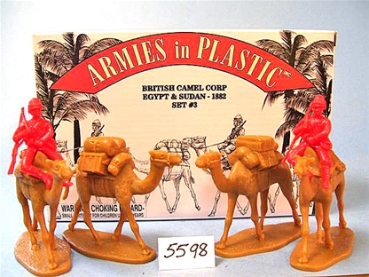 British Camel Corps in red color - Pack Train