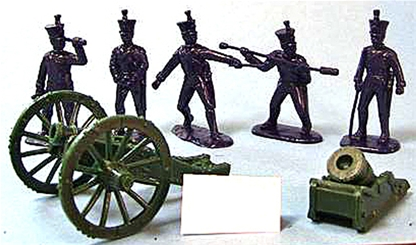 American 1812 Howitzer and Mortar Set