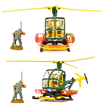 Deetail Hughes U.S. Army 300cc Helicopter