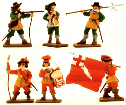 English Civil War Command Unit - fully painted