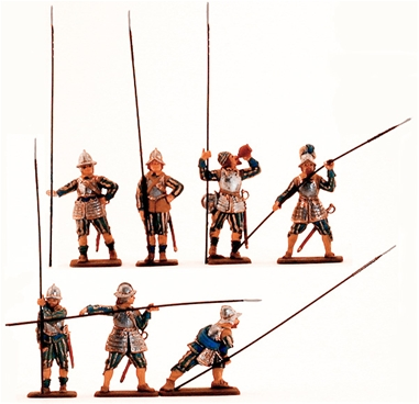 English Civil War Pikemen - fully painted