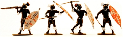 Zulu Warriors Set #1 - fully painted version
