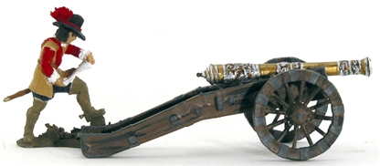 English Civil War Artillery Piece - fully painted