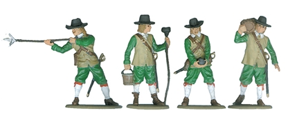 English Civil War Artillerymen - fully painted