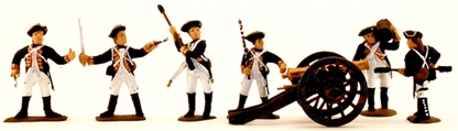 1776 Colonial Artillerymen - fully painted