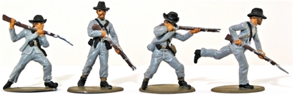 1863 Confederate Infantry - Basic painted