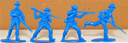 Union Inf - retired blue set of 4