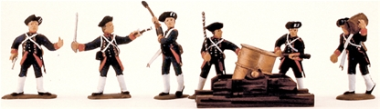 1776 French Artillerymen - fully painted