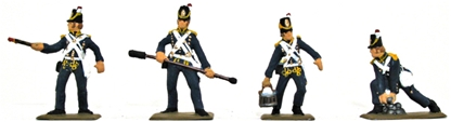 Napoleonic British Artillerymen - Fully painted