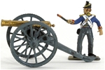 Napoleonic British Artillery Piece - fully painted
