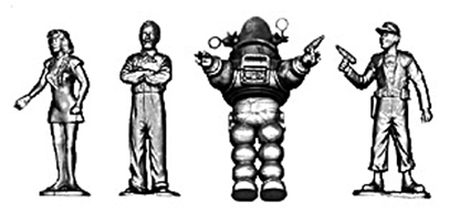 Forbidden Planet Character Figures
