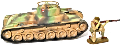 WW II Japanese Chi-Ha Tank - Basic painted