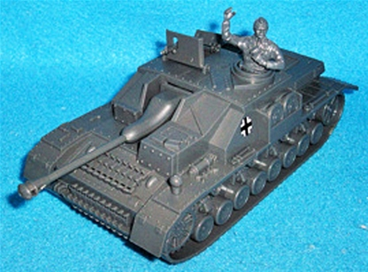 WWII German Stug IV with Tank Commander
