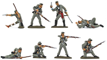 Civil War Confederate Infantry - basic paint