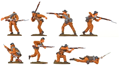Confederate Infantry - basic painted