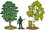 2 Painted Trees - Retired - low stock