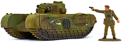 WWII British Churchill Tank - Fully  painted