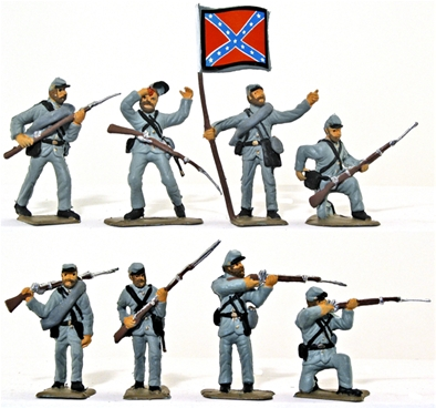 Confederate Infantry- Basic painted