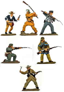 Alamo Defenders Set #1 - Fully Painted