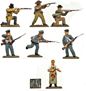 Alamo Defenders Set #3 - Fully painted