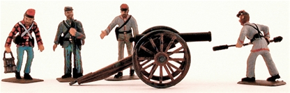 Confederate Artillery Crew - Fully painted version