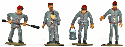Confederate Artillery Crew - Basic painted version