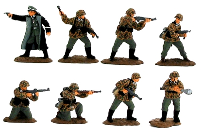 WWII Germans in Action #4 - Fully painted