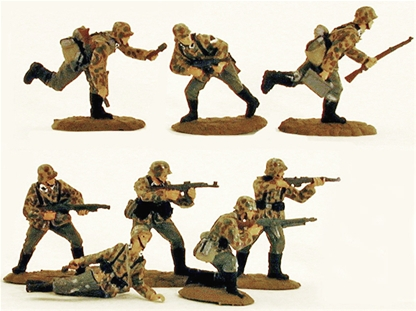 WWII Germans in Action #2 - Fully painted