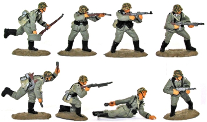WWII Germans in Action #2 - Basic painted