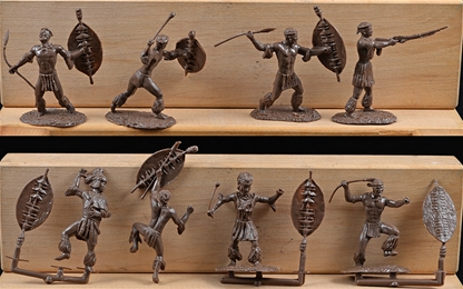 Zulu Warrior Set #1 - 8 in all 8 poses