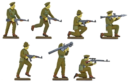 Viet Cong in Green Uniforms - fully painted