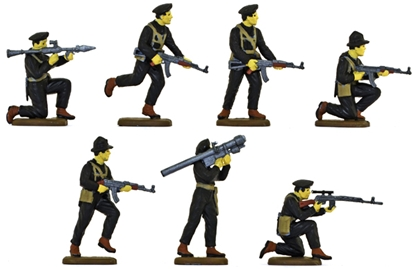 Viet Cong in Black Uniforms - fully painted