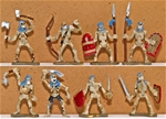 Painted Skeleton Warriors - Fully Painted